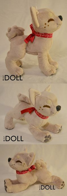 Prototype Puppy Plush for Tutorials by dot-DOLL on DeviantArt - Plushies Felt Crafts Diy, Sewing Crafts, Sewing Projects, Homemade Kids Toys, Wolf Plush, Plushie Patterns, Love Sewing, Stuffed Animal Patterns, Sewing For Beginners