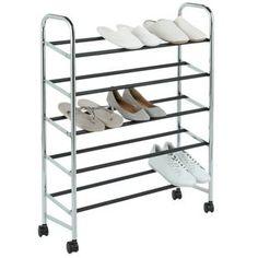 Buy 5 Tier Rolling Shoe Rack - Steel at Argos.co.uk - Your Online Shop for Shoe storage.