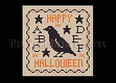 Halloween Sampler Primitive Halloween Sampler Cross Stitch