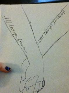 Sketch of what I would want if Molly and I ever got sister tattoos.