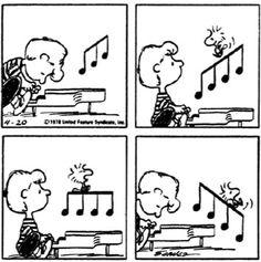 First Appearance: April 1978 Music Jokes, Music Humor, Peanuts Cartoon, Peanuts Snoopy, Peanuts Comics, Snoopy Love, Snoopy And Woodstock, Cartoon Network Adventure Time, Adventure Time Anime