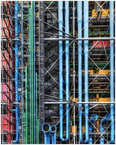 Centre Pompidou, Paris - Renzo Piano, Richard Rogers et Gianfranco Franchini Renzo Piano, Contemporary Architecture, Architecture Details, Interior Architecture, Architecture Diagrams, Architecture Portfolio, Interior Design, Monuments, Centre Pompidou Paris
