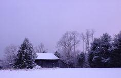 Old snowy barn..hockinghillsfarm.com