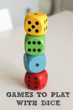 So many ideas for dice games, including simple classic childhood games, and printable games to play with dice