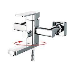 Contemporary Chrome Finish Single Handle Centerset Tub Tap Bath Taps, Bathroom Taps, Tub Faucet, Sink, Bathtub, Chrome Finish, Handle, Contemporary, Home Decor
