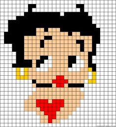 Betty Boop perler bead pattern