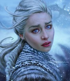 Daenerys Targaryen - Game of Thrones Emilia Clarke, Daenerys Targaryen Art, Deanerys Targaryen, Khaleesi, Game Of Thrones Sansa, Game Of Thrones Artwork, Mother Of Dragons, Fire And Ice, Art Club
