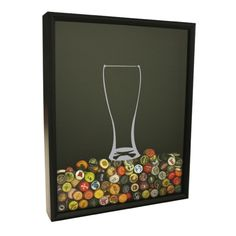 Do you have oodles bottle caps that you're saving for a special project? Want a conversation piece for your man cave to show off caps from all of the unique craft beers you've tried? We have the perfect solution for you: a Beer Cap Collector Shadow Box!