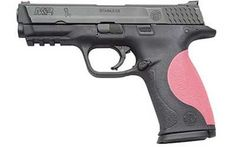 smith and wesson m&p pistol. pink and black.