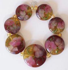Handmade Lampwork Beads Elegant Autumn Garden by CDLampwork, via Etsy.  https://www.etsy.com/listing/30531633