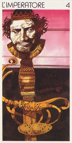 IV. The Emperor - Tarot Universal by Sergio Toppi