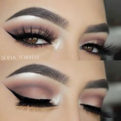 Pretty eye makeup is what women are searching for day after day. And when you are tired of the endless research, we always have something in store for you! Pretty Eye Makeup, Smokey Eye Makeup, Pretty Eyes, Gorgeous Makeup, Makeup Goals, Makeup Tips, Makeup Ideas, Makeup Tutorials, Halloween Makeup Looks