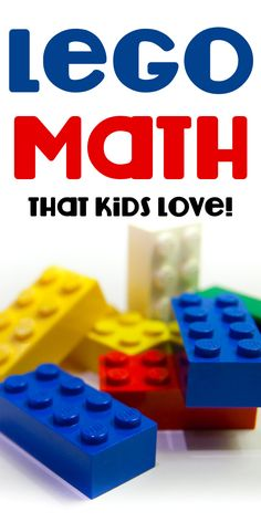 Lego Math, it includes practical ways to help kids visualize math applications. Lego Math, Math Classroom, Kindergarten Math, Teaching Math, Math Games, Activities For Kids, Counting Games, Multiplication Activities, Math Fractions