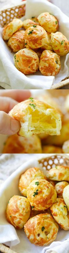 Cheese Puffs (Gougeres) - best and easiest recipe for puffy light and airy…