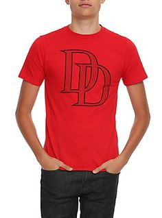 Marvel Daredevil Logo T-Shirt, RED