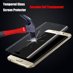 0.2mm 9H 3D Curved Surface Full Screen Cover Explosion-proof Tempered Glass Film for Samsung Galaxy S6 edge/S6 Edge Plus/S7 Edge