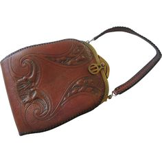 Art Nouveau Purse Tooled Leather Arts and Crafts Vintage 1930s Volland Leathercraft http://www.rubylane.com/item/676693-ACC29/Art-Nouveau-Purse-Tooled-Leather-Arts