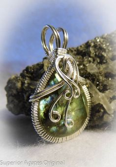 Labradorite Wire Wrapped Pendant by superioragates on Etsy, $35.00