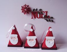 NatiQuill Blog: Tutorial Recycling Box Santa Claus