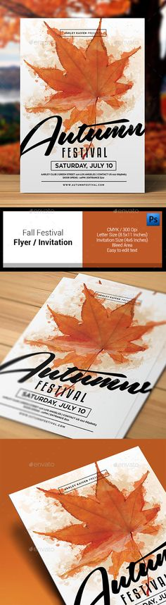 Autumn Fall Flyer Bundle @creativework247 Flyer Templates - fall flyer