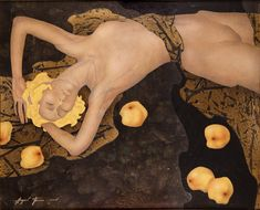 Figurative paintings by Andrey Belle This artist reminds me of Gustav Klimt.