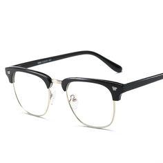 Brand TR90 Anti Blue Ray Clear Lens Fake Glasses Protection Eyewear Titanium Frame Reading Computer Glasses For Women Men