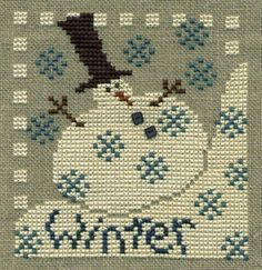 Winter cross stitch design by Bent Creek.