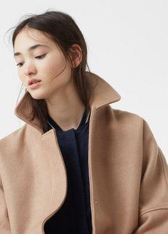 MANGO Cocoon Wool-Blend Coat