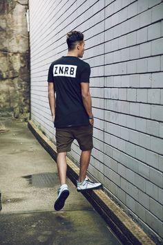 ZANEROBE | Bloc Tee Black | Gabe Shorts Military Green