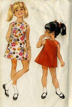 Vintage 60s McCalls 9196Toddler Girls Sleeveless by RomasMaison