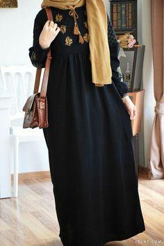 Muslim Women Fashion, Islamic Fashion, Mode Abaya, Mode Hijab, Abaya Fashion, Fashion Outfits, Dress Fashion, Fashion Fashion, Hijab Style Dress