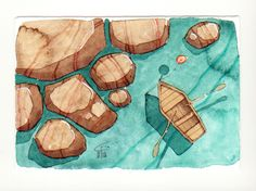 Mare - Sea - Gianluigi Punzo - Naples - Napoli - Italy - Italia - Watercolor - Acquerello - Aquarelle - Acuarela