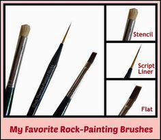Painting Rock & Stone Animals, Nativity Sets & More: 3 of My Favorite Rock Painting Brushes