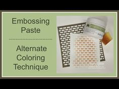 Quick Crafting Tip - Embossing Paste Alternate Coloring Technique    Stampin' Up!, card, paper, craft, scrapbook, rubber stamp, hobby, how to, DIY, handmade, Live with Lisa, Lisa's Stamp Studio, Lisa Curcio, www.lisasstampstudio.com