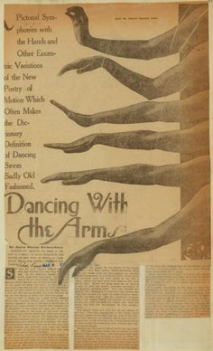 """""""Dancing with the Arms"""" by Anna Steese Richardson about Ruth St. Denis ca. 192?"""