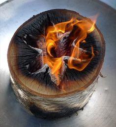 What a clever idea for a portable bonfire!      http://estonianforest.com/eco-forest/light-n-go-tm-bonfire-log/