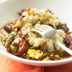 Easy Shepherd's Pie Make this favorite beef and potato casserole recipe faster and easier by using shortcut ingredients.