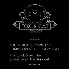 Free font: Fox & Cat by Jo Aguilar.  Linear, single-weight design with a casual, slightly imperfect look that resembles handwritten printing.