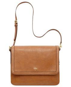 Fossil Handbag, Sydney Leather Flap Crossbody - Handbags & Accessories - Macy's