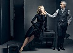 Nicole Kidman and Baz Luhrmann - Moulin Rouge! and Australia. As a big movie fan, I really appreciate dynamic chemistry between great actors and directors. Photography by Annie Leibovitz for Vanity Fair Annie Leibovitz Photos, Anne Leibovitz, Annie Leibovitz Photography, Baz Luhrmann, Nicole Kidman, Robert Mapplethorpe, Richard Avedon, Famous Photographers, Portrait Photographers