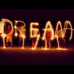 PHOTOGRAPHY I like this idea of using a slow shutter speed and light to spell words its more interesting than regular text Sparkler Photography, Light Photography, Vintage Photography, Artistic Photography, Digital Photography, Photography Ideas, Indie Photography, Movement Photography, Fireworks Photography