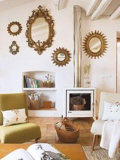 Una casa rústico chic/A rustic chic home Living Room Remodel, Living Room Paint, Living Room Colors, Home Living Room, Living Room Decor, Living Room Trends, Living Room Designs, Interior Design Layout, Simple Living Room