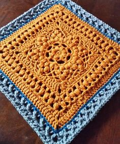 Make this beautiful afghan block by Margaret MacInnis with Lion Brand Vanna's Choice! Get the free crochet pattern on Ravelry.