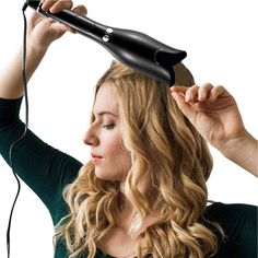Rose-shaped Multi-Function LCD Curling Iron Professional Hair Curler Styling Tools Curlers Wand Waver Curl Automatic Curly Air - My CMS Hair Curler Wand, Magic Hair Curlers, Hair Crimper, Curling Hair With Wand, Automatic Curling Iron, Automatic Hair Curler, Curling Iron Hairstyles, Curled Hairstyles, Wedding Hairstyles