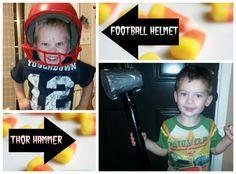 Homemade Thor Hammer and Football Helmet - http://saviorcents.com/homemade-thor-hammer-football-helmet/ - #DIYHalloweenCostume, #HappyHalloween, #Homemade, #HomemadeHalloweenCostumes