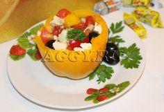 """Салат """"Греческий"""" в овощном стаканчике"""