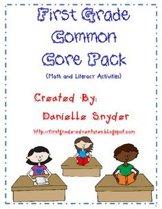FREE 93 page Math and Literacy Activities for first grade common core
