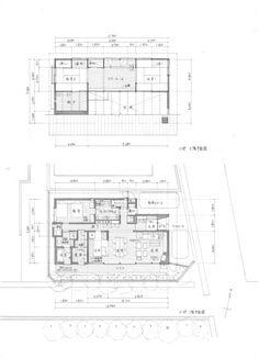 細庭の家|横内敏人建築設計事務所 Japanese Architecture, House Plans, Floor Plans, Diagram, How To Plan, Sketch, Interiors, Log Projects, Small Flats