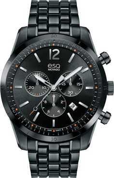 ESQ+Current+-+Men's+ESQ+Current+chronograph,+44+mm+PVD-finished+stainless+steel+case+with+