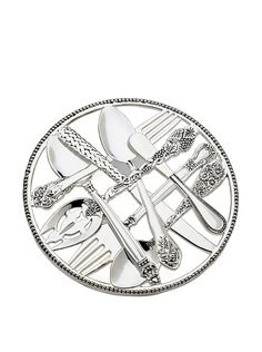 Godinger Flatware Design Trivet, Silver, http://www.myhabit.com/redirect/ref=qd_sw_dp_pi_li?url=http%3A%2F%2Fwww.myhabit.com%2Fdp%2FB000KMHRD6
